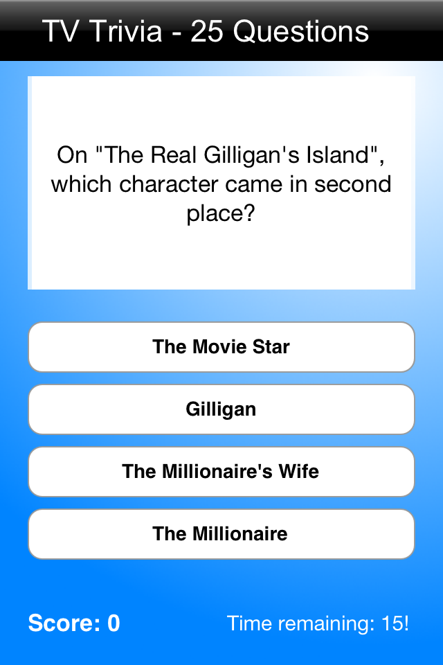 Screenshot TV Show Trivia